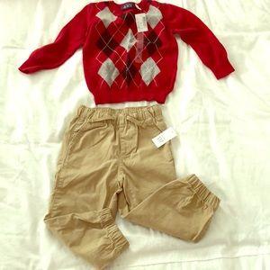 Brand new Gap 2T khaki pants